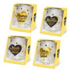 water- wijnglazen mama, cadeau Moederdag