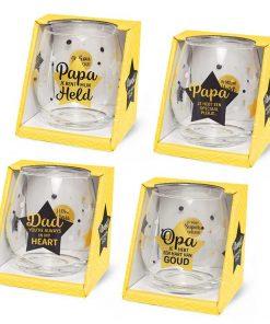 water- wijnglazen papa, waterglas papa, wijnglas papa, waterglas opa, wijnglas opa, cadeau vaderdag, cadeau papa