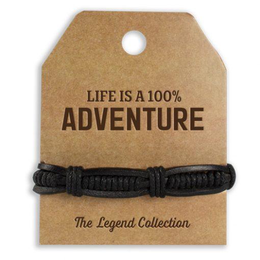 leren armband adventure, cadeau man, stoer cadeau, cadeau vaderdag