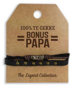 leren armband bonus papa, cadeau bonus papa, cadeau man, cadeau Vaderdag, stoer cadeau