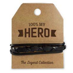 leren armband hero, cadeau man, stoer cadeau, cadeau voor hem