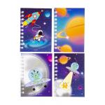 ruimtevaart notitieboekje ringband, ringband notitieboekje, ruimtevaart traktatie