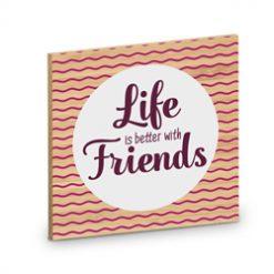onderzetter friends, cadeau vrienden