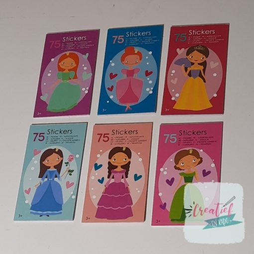 stickerboekje prinses, prinses stickers, prinsessen traktatie, meisjes traktatie