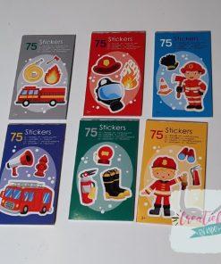 stickerboekje brandweer, brandweer traktatie, jongens traktatie