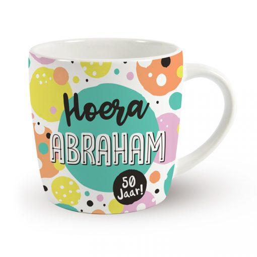 verjaardagsmok, mok verjaardag, mok Abraham