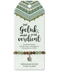 vriendschapsarmband speciaal voor jou, armband geluk, jade steen