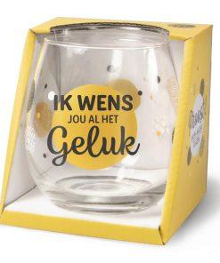 waterglas geluk, wijnglas geluk