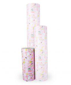 inpakpapier girl power, cadeau papier girl power