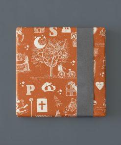 inpakpapier sint vintage, cadeau papier sinterklaas, cadeau voorbeeld sinterklaas