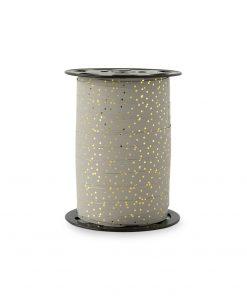 cadeaulint dots grey, krullint dots grey
