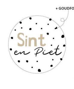 Sluitsticker Sint en Piet, kado sticker Sint en piet, kadosticker sinterklaas