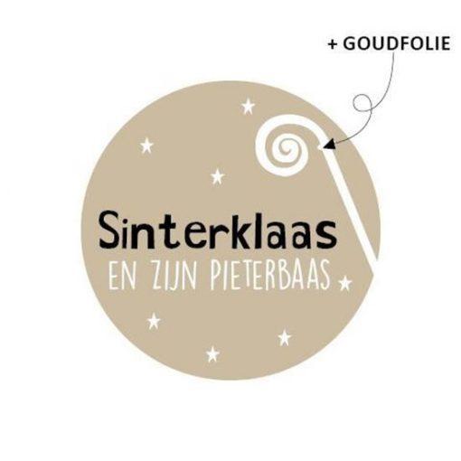 Sluitsticker Sinterklaas & zijn pieterbaas, kado sticker sinterklaas
