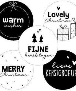 sluitstickers fijne feestdagen, sluitstickers kerstmis