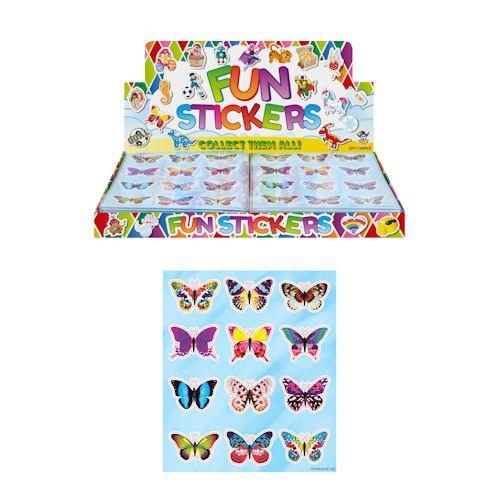 funstickers vlinders, vlinder traktatie