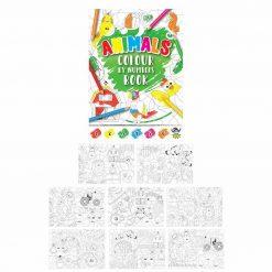 kleurboekje dieren, kleuren op nummer dieren, dieren traktatie