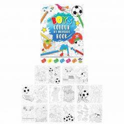 kleurboekje, kleuren op nummers jongens, kleurboekje jongens, jongens traktatie