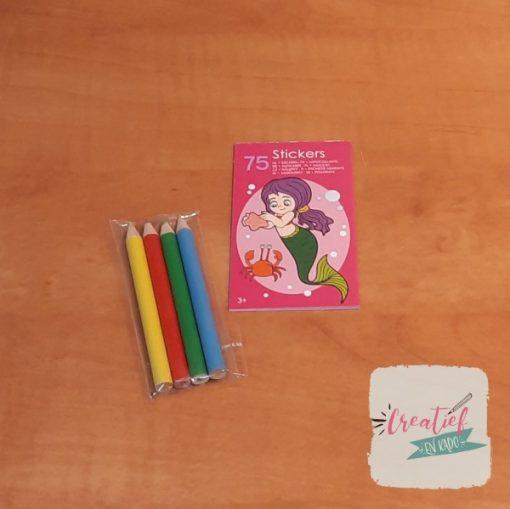 zeemeermin stickerboekje traktatie, traktatie meisjes, traktatie zeemeermin