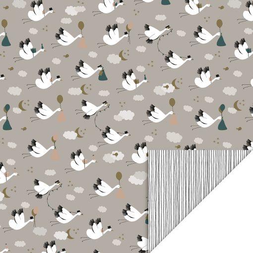 cadeau papier baby bird, inpakpapier baby bird, kadopapier baby bird, kraamcadeau inpakken, inpakpapier baby