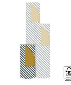 cadeau papier stripe diagonal petrol