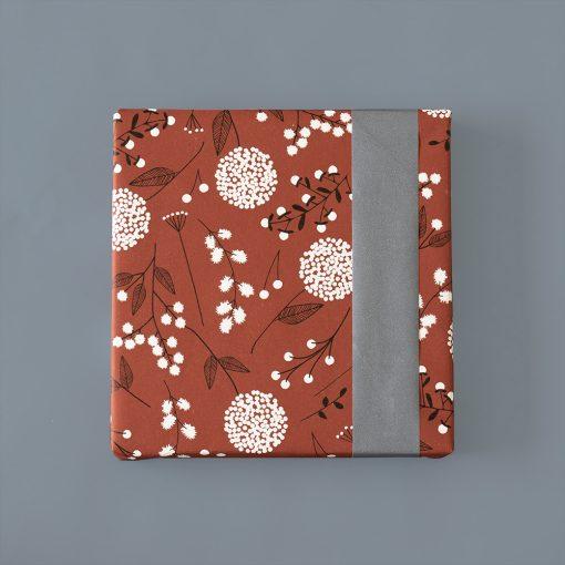 inpakpapier flowers big warm red, cadeau papier flowers, inpakken, cadeautje inpakken