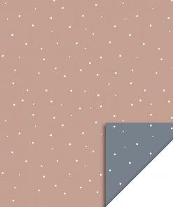 inpakpapier little dot warm pink, kadopapier, cadeau papier, geboorte papier, inpakpapier baby