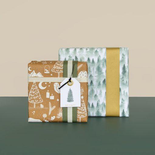 voorbeelden kerst cadeau papier