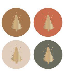 sluitstickers x-mas, sluitsticker kerstmis, sluitsticker kerstboom, kado sticker kerst