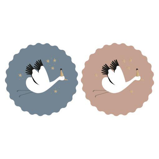 sluitsticker baby bird, cadeau sticker baby bird