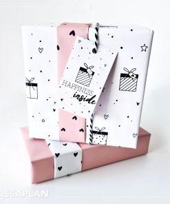 cadeau papier love to give hartjes, inpakpapier love to give, inpakken kadopapier