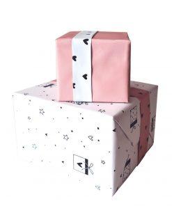cadeau papier love to give, cadeau papier hartjes, cadeau voorbeeld
