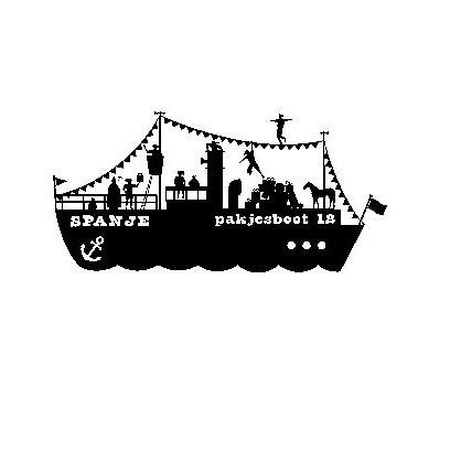 raamsticker stoomboot, raamsticker pakjesboot, Raamsticker Sinterklaas, Sinterklaas thema straatje, sinterklaas stickers