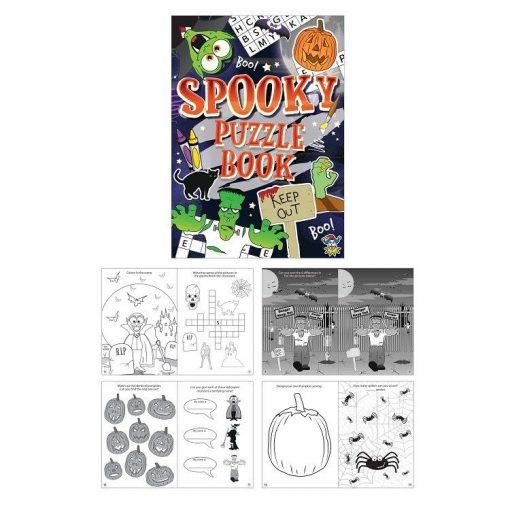 Halloween puzzelboekje, Halloween traktatie, uitdeelkadootjes halloween