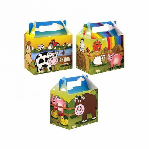 menubox boerderij, traktatie box boerderij, boerderij traktatie, dieren traktatie box