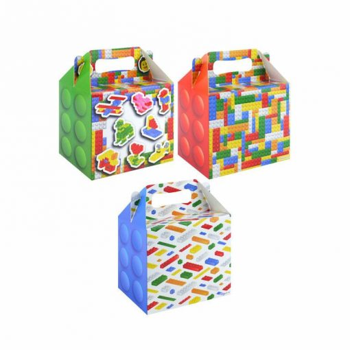 menubox bouwstenen, menubox lego. lego traktatie, traktatie box jongens