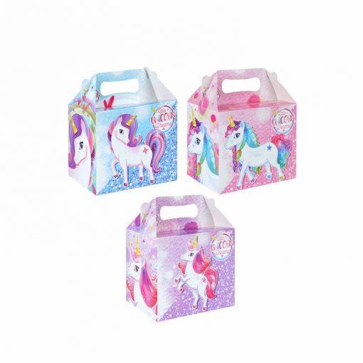 menubox unicorn, menubox eenhoorn, unicorn traktatie, eenhoorn traktatie, meiden traktatie