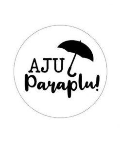 Sluitsticker aju paraplu, sluitsticker afscheid, kado afscheid, kado sticker aju paraplu