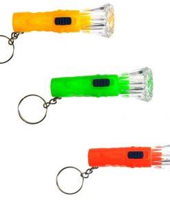 Zaklamp sleutelhanger, sleutelhanger traktatie, gekleurde zaklampjes
