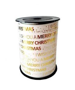 krullint merry christmas, cadeaulint merry christmas, inpakken kerst
