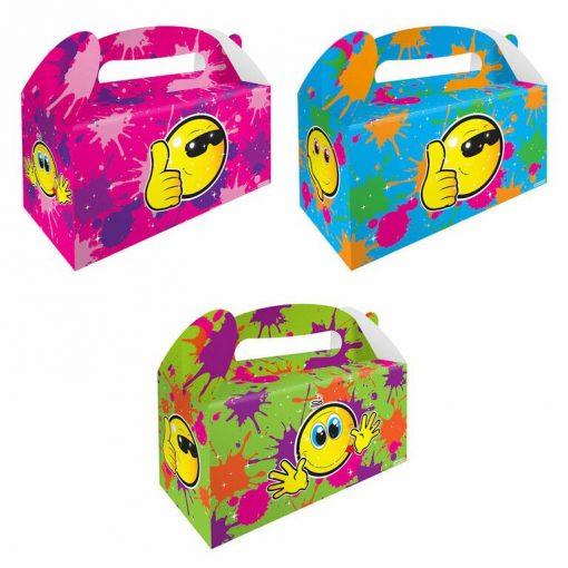 Menubox smiley XL, traktatie box smiley